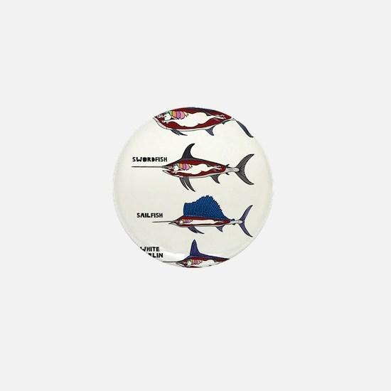 Unicorn Fish Mini Button