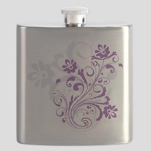 Purple flowers Flask