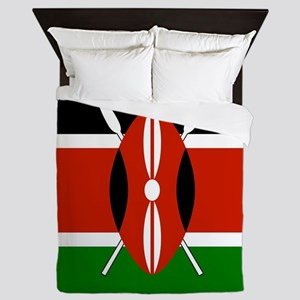Kenyan Flag Queen Duvet