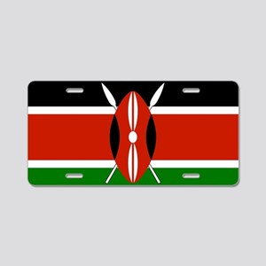 Kenyan Flag Aluminum License Plate