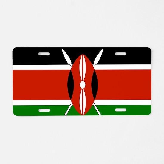Kenyan Flag Aluminum License Plate