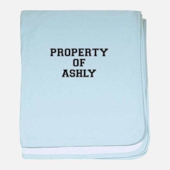 Property of ASHLY baby blanket
