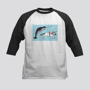 Narwhal Swimming With Unicorn Baseball Jersey