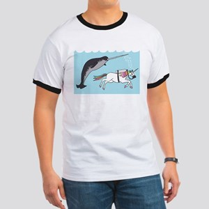 Narwhal Swimming With Unicorn T-Shirt