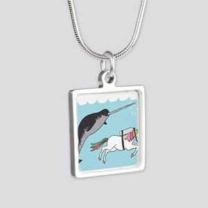 Narwhal Swimming With Unicorn Necklaces
