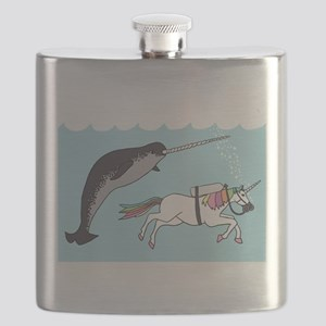 Narwhal Swimming With Unicorn Flask
