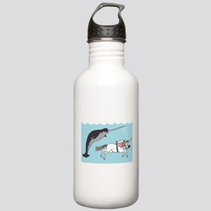 Narwhal Swimming With Stainless Water Bottle 1.0L