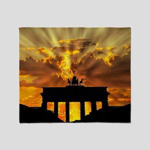 Brandenburg Gate, Berlin, German Throw Blanket