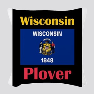 Plover Wisconsin Woven Throw Pillow