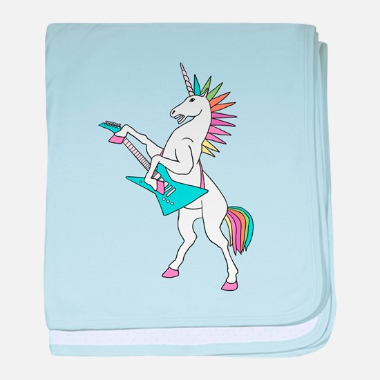 Punk Rock Unicorn baby blanket