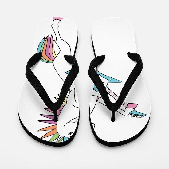 Punk Rock Unicorn Flip Flops