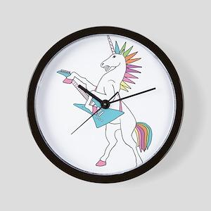 Punk Rock Unicorn Wall Clock