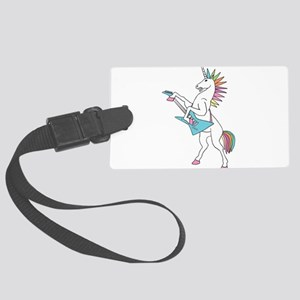 Punk Rock Unicorn Large Luggage Tag