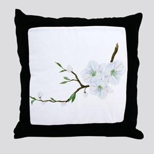Blooming Twig Throw Pillow