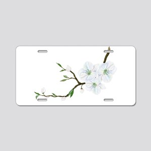 Blooming Twig Aluminum License Plate