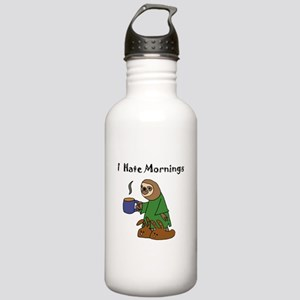Funny Sloth Hates Morn Stainless Water Bottle 1.0L