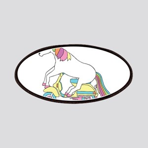 Unicorn Riding Motorscooter Patch