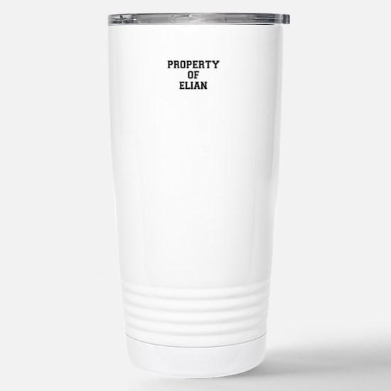 Property of ELIAN Stainless Steel Travel Mug