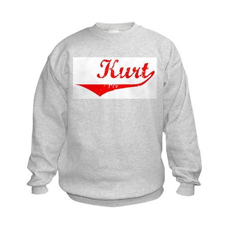 Kurt Vintage (Red) Kids Sweatshirt