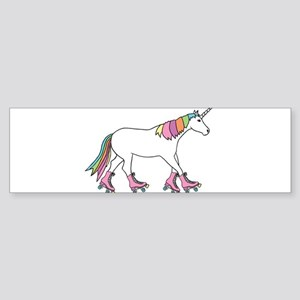 Unicorn Rollerskating Bumper Sticker