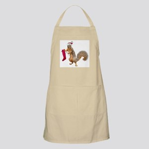 Standing Squirrel Stocking Apron
