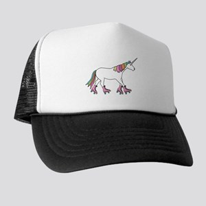 Unicorn Rollerskating Trucker Hat