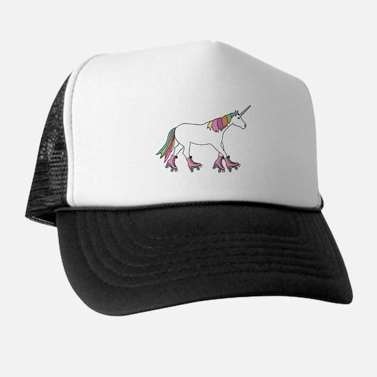 Unicorn Rollerskating Trucker Hat