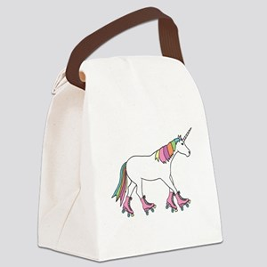 Unicorn Rollerskating Canvas Lunch Bag
