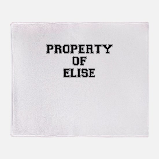 Property of ELISE Throw Blanket