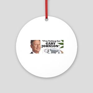 Gary Johnson voter Round Ornament
