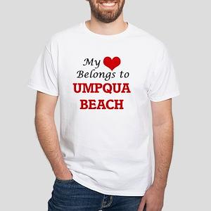 My Heart Belongs to Umpqua Beach Oregon T-Shirt