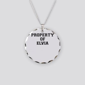 Property of ELVIA Necklace Circle Charm