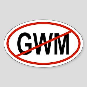 GWM Oval Sticker