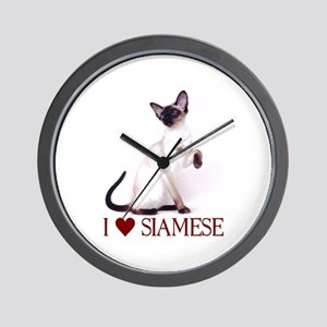I love Siamese Wall Clock