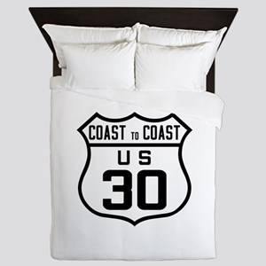 US Route 30 Coast to Coast Queen Duvet