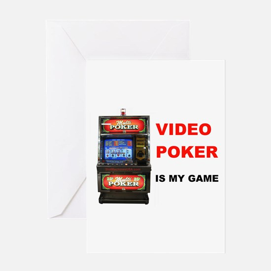 VIDEO POKER Greeting Card