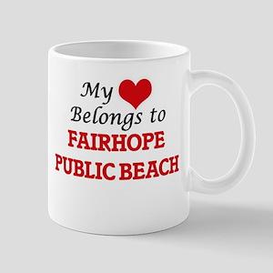My Heart Belongs to Fairhope Public Beach Ala Mugs