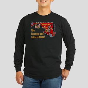 MD-Lacrosse! Long Sleeve Dark T-Shirt