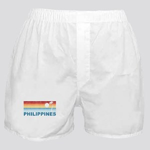 Retro Philippines Palm Tree Boxer Shorts