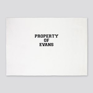 Property of EVANS 5'x7'Area Rug