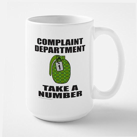 COMPLAINT DEPARTMENT Large Mug