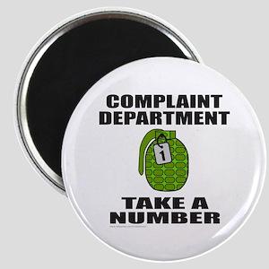COMPLAINT DEPARTMENT Magnet
