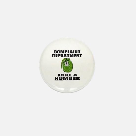 COMPLAINT DEPARTMENT Mini Button