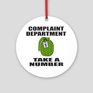 COMPLAINT DEPARTMENT Ornament (Round)
