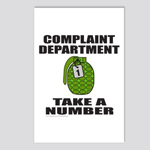 COMPLAINT DEPARTMENT Postcards (Package of 8)