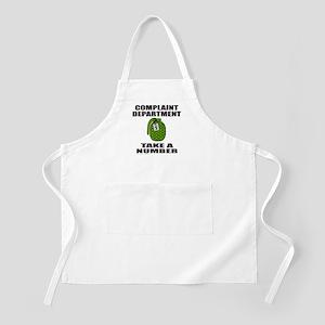 COMPLAINT DEPARTMENT BBQ Apron