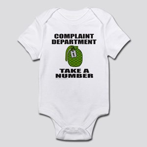 COMPLAINT DEPARTMENT Infant Bodysuit