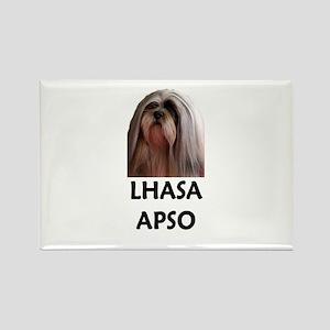 Lhasa Apso Rectangle Magnet