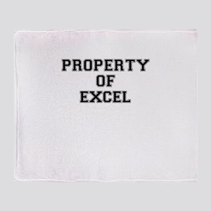Property of EXCEL Throw Blanket