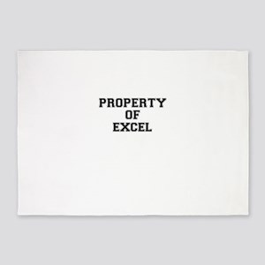 Property of EXCEL 5'x7'Area Rug